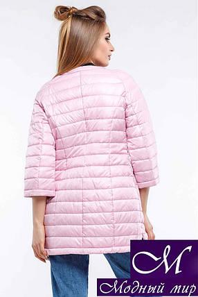 Жіноча осіння рожева куртка-плащ батал (р. 42-54) арт. Белла, фото 2