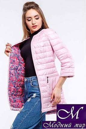 Женская осенняя розовая  куртка-плащ батал (р. 42-54) арт. Белла, фото 2
