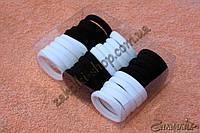 Резинки для волос беcшовная микрофибра в коробочке; диаметр: 4 см, ширина: 8 мм, 30 штук в упаковке, фото 1