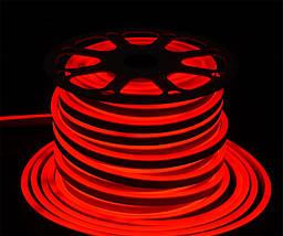 Світлодіодна стрічка, неон 220В JL 2835-120 W IP65 червоний, герметична, фото 2