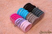 Резинки для волос беcшовная микрофибра в коробочке; диаметр: 4 см, ширина: 8 мм, 30 штук в упаковке