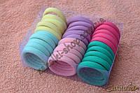 Резинки для волос беcшовная микрофибра в коробочке; диаметр: 4.5 см, ширина: 9 мм, 30 штук в упаковке