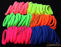 Резинки для волос беcшовная микрофибра; диаметр: 4,5 см, ширина: 7 мм, 100 штук в упаковке, фото 1