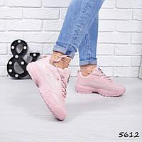 Кроссовки женские F розовые, фото 1