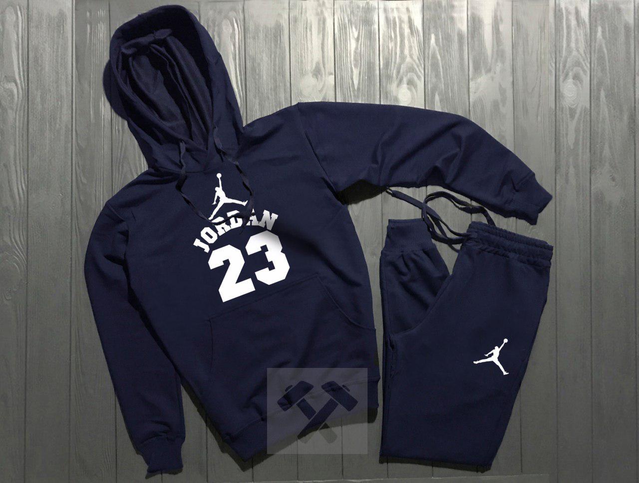 Спортивный костюм Nike Jordan темно-синий топ реплика
