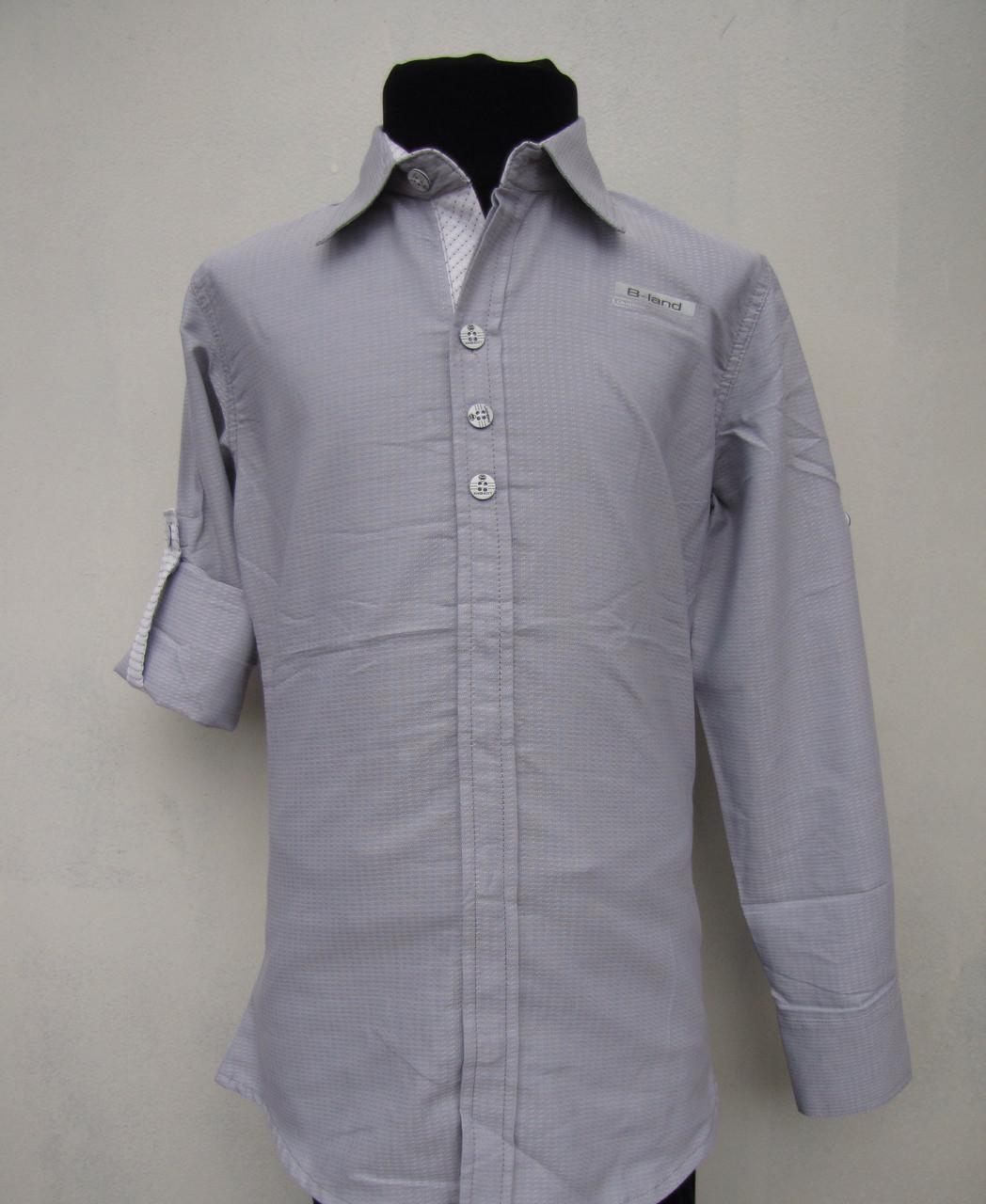 Рубашка школьная на мальчиков 128,140 роста Хлопок
