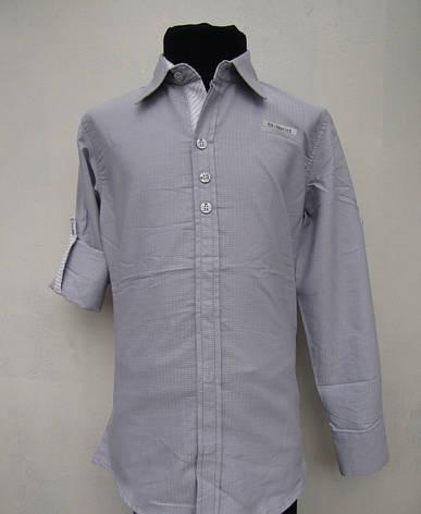 Рубашка школьная на мальчиков 128,140 роста Хлопок, фото 2