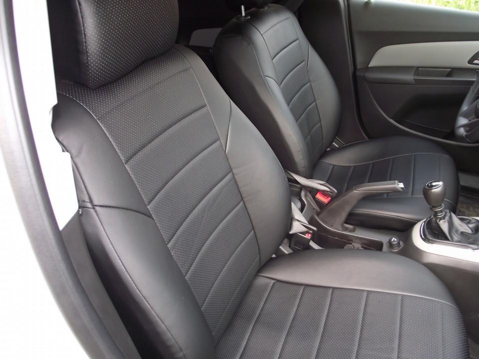 Авточехлы из экокожи Автолидер для  Mercedes Benz E-classe W 211 с 2002-2009г. Седан черные