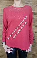 Стильная женская кофта ERBOSSI со стразами большого размера, фото 1