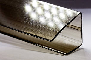 UP-Торцевой профиль 10мм бронза