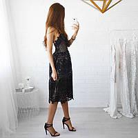 Женское изящное платье из кружева (2 цвета)