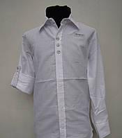Белая нарядная рубашка для мальчиков 128.140,152 роста