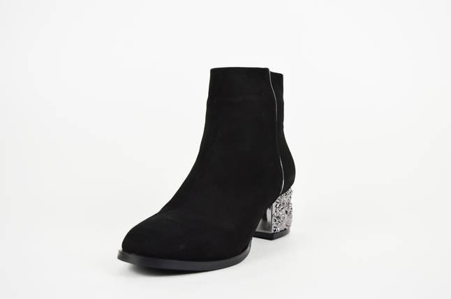 Замшевые ботинки с металлическим каблуком Donna Style 4060, фото 2