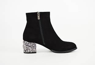 Замшевые ботинки с металлическим каблуком Donna Style 4060, фото 3