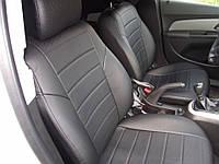 Авточехлы из экокожи Автолидер для  Skoda Superb 2 с 2008-2013г. седан. Задняя спинка 40 на 60, сидение единое черные