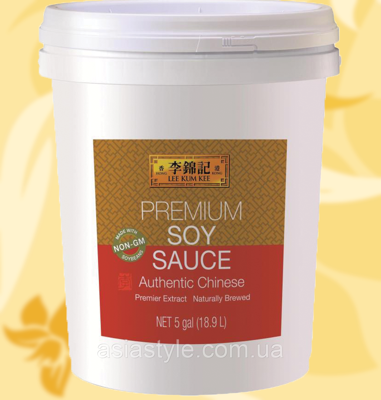 Соус соєвий, преміум, Premium Soy Sauce, Lee Kum Kee, 18.9 л, МоМА