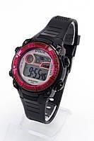 Детские наручные часы Polit (Полит), черно-красный корпус и серебристый циферблат ( код: IBW156BR ), фото 1