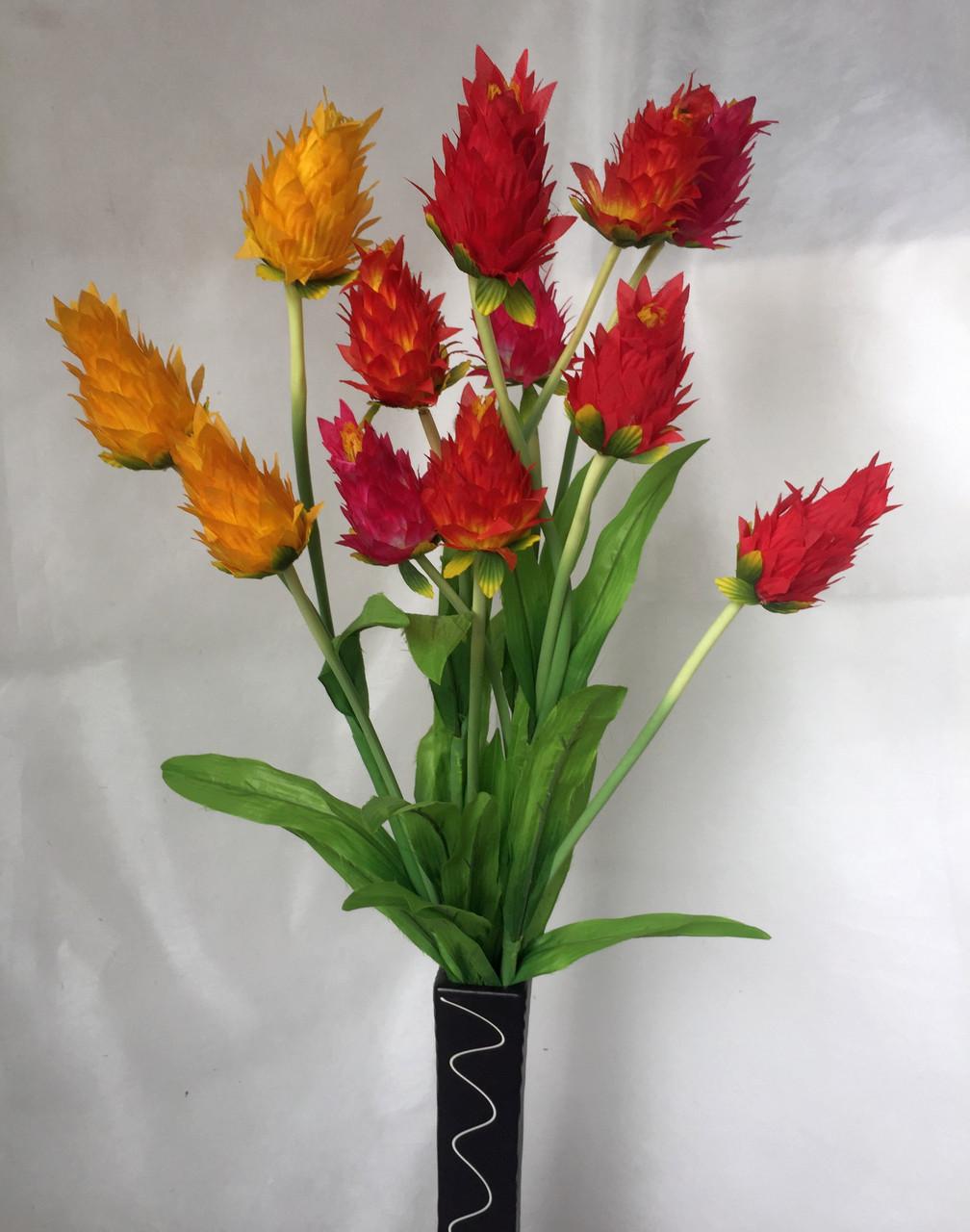 Искусственные цветы, Ветка Ананас 3 бутона