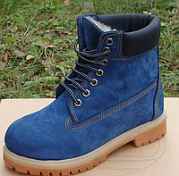 4e6e84b647fd Женские Зимние Ботинки Timberland 6 inch Blue с Мехом, ботинки тимберленд  женские, реплика