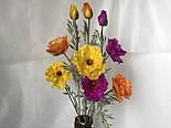 Искусственная ветка мака, 2 цветка и бутон, фото 3