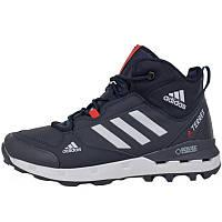 9b534254 Кроссовки мужские Adidas Terrex 390 (синие) на Меху, зимние (Top replic)