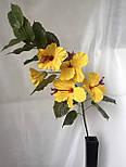 Искусственная ветка  гибискуса (суданская роза) 5 цветков, фото 2