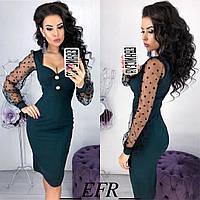 Женское красивое платье 4 расцветки