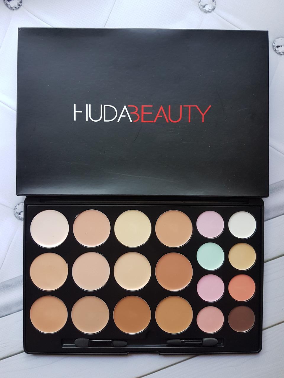 Палетка консилеров для коррекции лица Huda Beauty (20 оттенков)