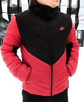 Мужская красная зимняя куртка Nike (реплика), фото 2
