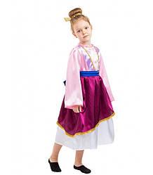 Карнавальный костюм КИТАЯНКА, МУЛАН для девочки 4,5,6,7,8,9 лет, детский национальный костюм КИТАЯНКИ