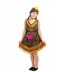 Карнавальный костюм ИНДИАНКА, ПОКАХОНТАС для девочки 4,5,6,7,8,9 лет, детский национальный костюм ИНДИАНКИ
