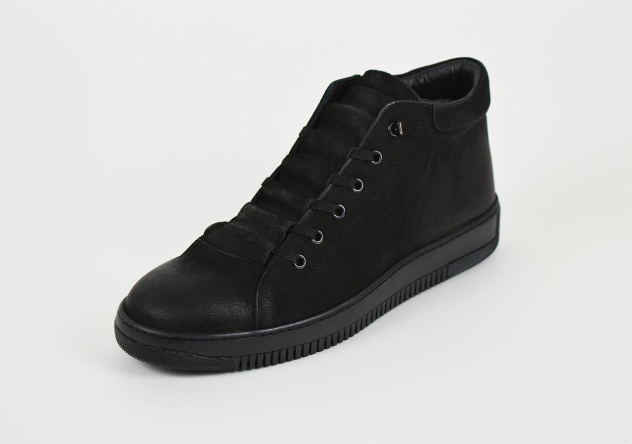 Мужские зимние ботинки нубук 71102