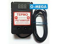 Терморегулятор цифровой ЦТР-2д в розетку 10А (-40...+125) гистерезис 0,1°С