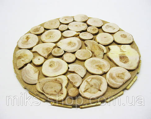Деревянная подставка под горячее - ручная работа, фото 2