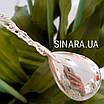 Серебряная чайная ложка  - Серебряная ложка для варенья Узоры - Ложка для джема серебро, фото 7