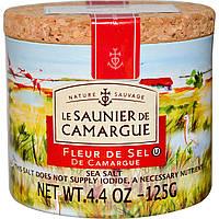 Le Saunier de Camargue, Флер де Сель, морская соль, 4,4 унции (125 г)