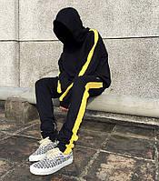 Подростковый спортивный костюм для мальчика с лампасами (двунитка), фото 1