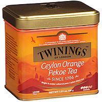 Twinings, Цейлонский листовой чай Orange Pekoe, средний, 3,53 унции (100 г)