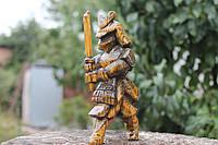 """Дерев'яна статуетка """"Самурай"""". Різьба по дереву"""