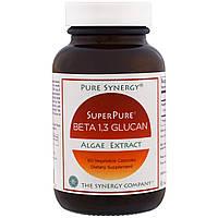The Synergy Company, SuperPure, бета-1,3-глюкан, экстракт водорослей, 60 вегетарианских капсул