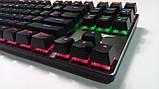 Клавиатура механическая с подсветкой HAVIT HV-KB435L, SKELETON, метал. панель, USB (только EN раскладка), фото 3