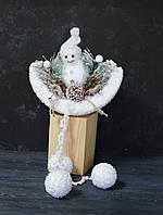 Снеговик сидячий 70 см, фото 1