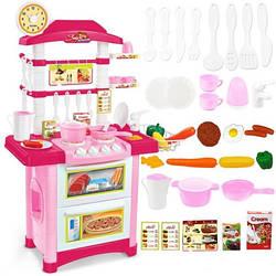 Детская кухня розовая со звуком и светом, выс. 87 см.