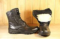 Ботинки берцы зимние из натуральной кожи и меха SB EKO зима