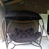 Качеля кокон с крышей трёхместная, фото 3