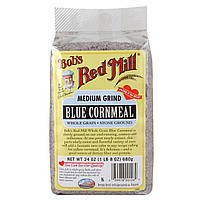 Bob's Red Mill, Голубая кукурузная мука, средний помол, 24 унции (680 г) (Discontinued Item)