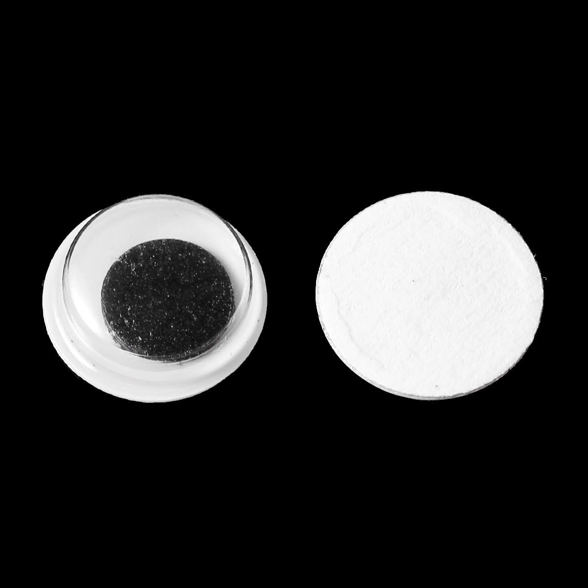 Глаз, ABS Пластик, Кабошон, Фурнитуры для изготовления кукол, Черный & Белый, 10 мм