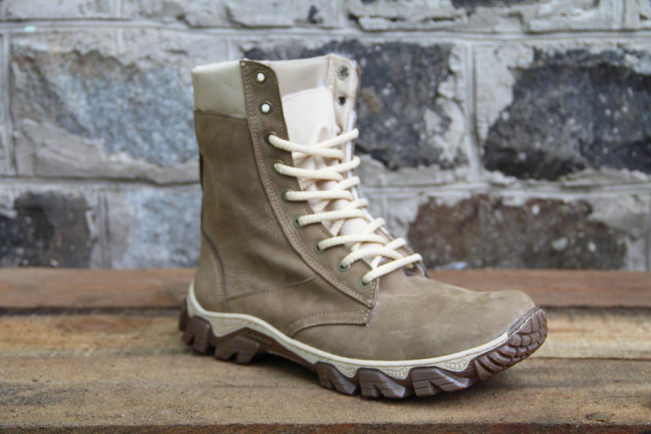 Берцы из натуральной кожи, тактические ботинки J 02
