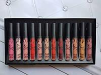 Набор помад (Кайли) Kylie Jenner Matte Liquid Lipstick 12 шт.