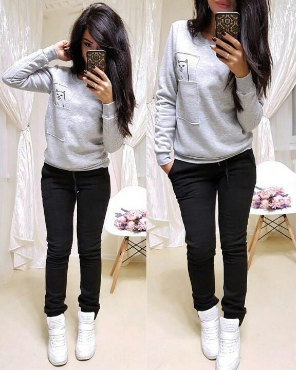 43422353 Женские теплые спортивные штаны на флисе(42-48): продажа, цена в ...